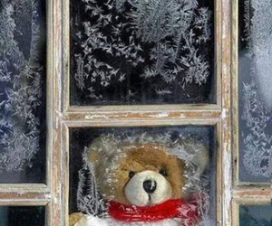 winter, snow, and teddy bear image