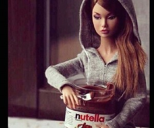 nutella, barbie, and chocolate image