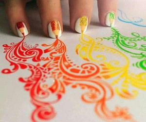 nails, art, and colors image