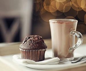 coffee, chocolate, and muffin image