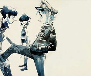 gorillaz, noodles, and 2d image