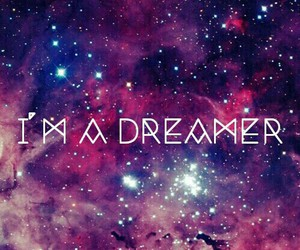 Dream, dreamer, and galaxie image