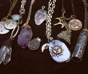 necklace, crystal, and sun image