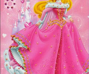 aurora, pink, and the sleeping beauty image
