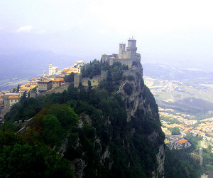 castle, italy, and landscape image