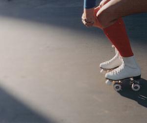d, girl, and roller skates image