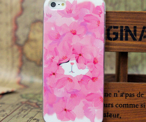 case, cat, and flowers image