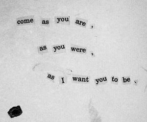 nirvana, come as you are, and Lyrics image