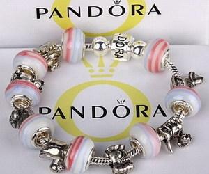 bracelet, pink, and pandora bracelet image