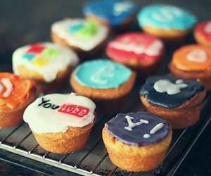 youtube, cupcakes, and food image