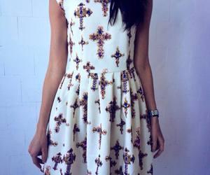 cross, crosses, and dress image