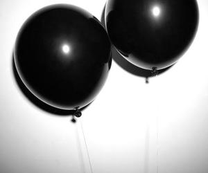 balloons, blackandwhite, and boobs image