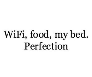 food, wifi, and bed image