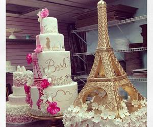 cake, paris, and pink image