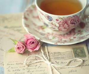tea, rose, and vintage image