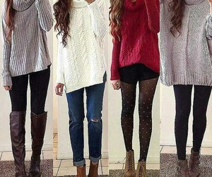 clothes, cozy, and sweaters image