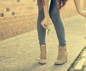 girl, shoes, and fashion image