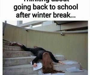 school, winter, and break image