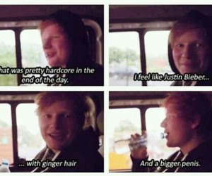 ed sheeran, funny, and justin bieber image