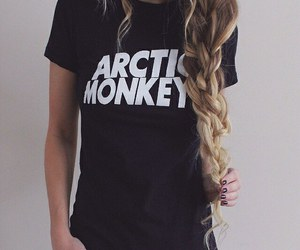 girl, arctic monkeys, and hair image