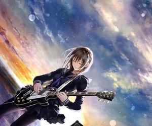аниме, гитара, and музыкальный инструмент image