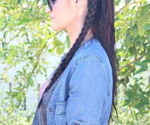 braid, braids, and hairstyle image