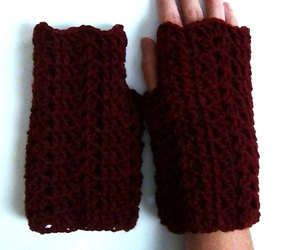 crochet, mainely handcrafts, and fingerless gloves image