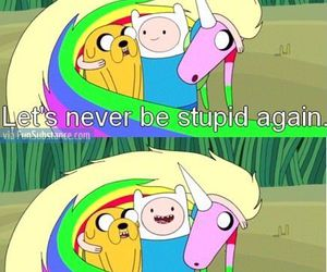 adventure time, finn, and stupid image