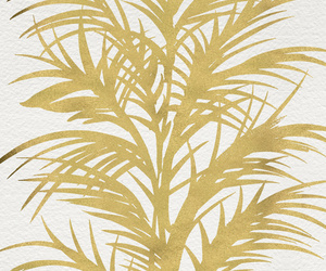 gold, metallic, and fronds image