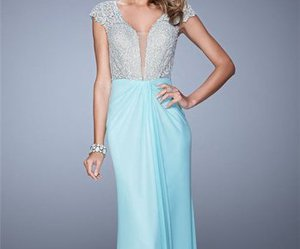 long, beaded, and formal prom dress image