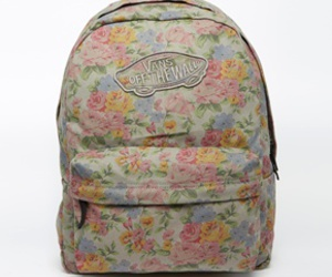 backpack, fashion, and vans image