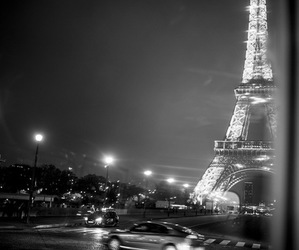 night, paris, and places image