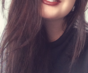 piercing, red lips, and smiley image