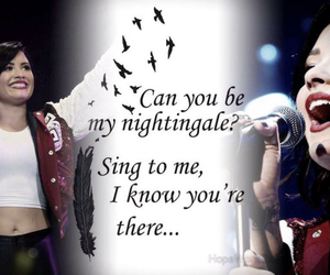 demi lovato, sing, and nightingale image
