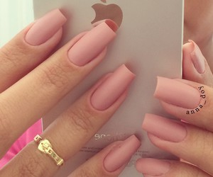 nails, iphone, and pink image
