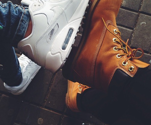 shoes, timberland, and nike image
