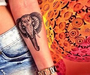 tattoo, elephant, and tatto image