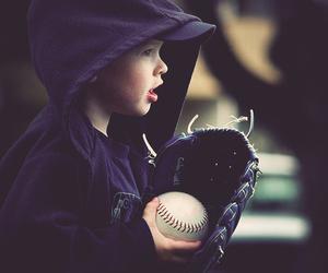 baby, baseball, and kids image