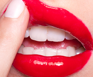 lips, red, and white image