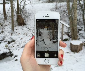 iphone, pretty, and snow image