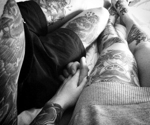 couple, tattoo, and inlove image
