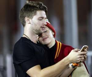 miley cyrus, patrick schwarzenegger, and couple image