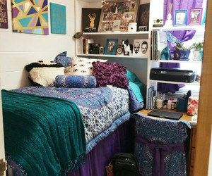 college, dorm, and dorm room image