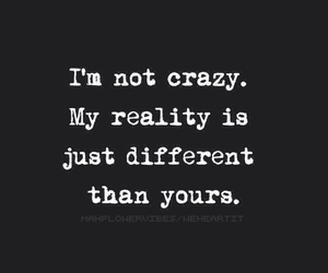 crazy, quote, and reality image