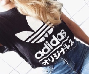 girl, adidas, and clothes image