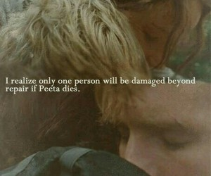 the hunger games, peeta mellark, and katniss everdeen image