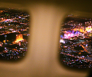 light, city, and plane image