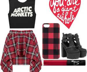arctic monkeys, grunge, and red image