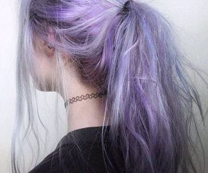 blue hair, pale, and goth image