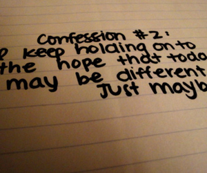 confession, emotion, and handwriting image